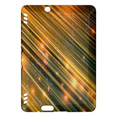 Golden Blue Lines Sparkling Wild Animation Background Space Kindle Fire Hdx Hardshell Case by Mariart