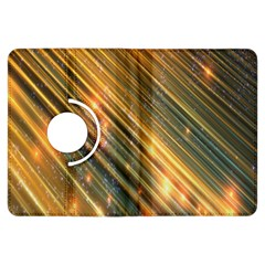 Golden Blue Lines Sparkling Wild Animation Background Space Kindle Fire Hdx Flip 360 Case by Mariart