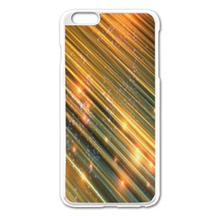 Golden Blue Lines Sparkling Wild Animation Background Space Apple Iphone 6 Plus/6s Plus Enamel White Case by Mariart