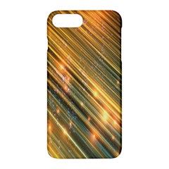 Golden Blue Lines Sparkling Wild Animation Background Space Apple Iphone 7 Plus Hardshell Case by Mariart