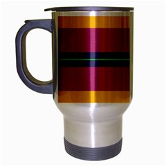 Layer Retro Colorful Transition Pack Alpha Channel Motion Line Travel Mug (silver Gray) by Mariart