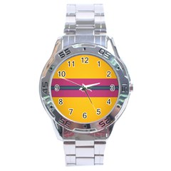 Layer Retro Colorful Transition Pack Alpha Channel Motion Line Stainless Steel Analogue Watch by Mariart