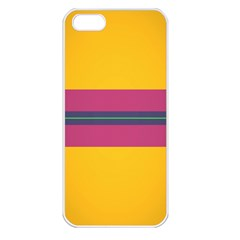 Layer Retro Colorful Transition Pack Alpha Channel Motion Line Apple Iphone 5 Seamless Case (white) by Mariart