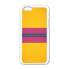 Layer Retro Colorful Transition Pack Alpha Channel Motion Line Apple Iphone 6/6s White Enamel Case by Mariart