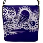 Deep purple abstract bag - Removable Flap Cover (S)