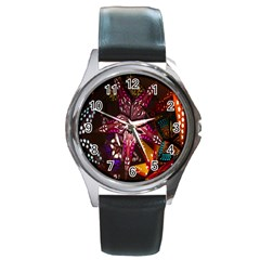 Hanging Paper Star Lights Round Metal Watch