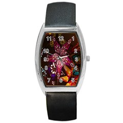 Hanging Paper Star Lights Barrel Style Metal Watch by Mariart