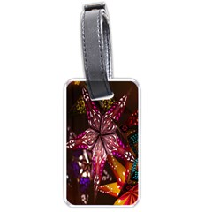 Hanging Paper Star Lights Luggage Tags (one Side)  by Mariart