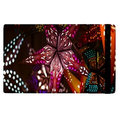 Hanging Paper Star Lights Apple Ipad 3/4 Flip Case by Mariart