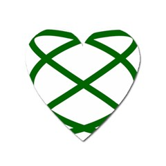 Lissajous Small Green Line Heart Magnet by Mariart