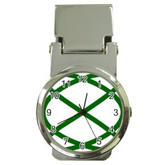 Lissajous Small Green Line Money Clip Watches by Mariart