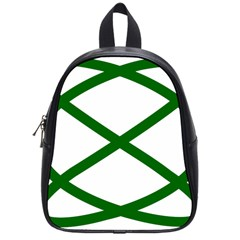 Lissajous Small Green Line School Bag (small) by Mariart