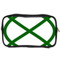 Lissajous Small Green Line Toiletries Bags 2 Side by Mariart
