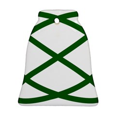 Lissajous Small Green Line Ornament (bell) by Mariart