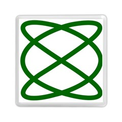 Lissajous Small Green Line Memory Card Reader (square)  by Mariart