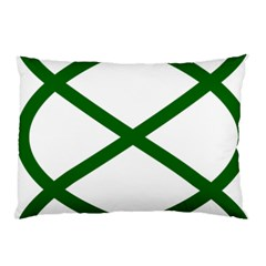 Lissajous Small Green Line Pillow Case (two Sides) by Mariart