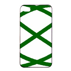 Lissajous Small Green Line Apple Iphone 4/4s Seamless Case (black) by Mariart