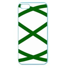 Lissajous Small Green Line Apple Seamless Iphone 5 Case (color) by Mariart