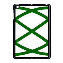 Lissajous Small Green Line Apple Ipad Mini Case (black) by Mariart