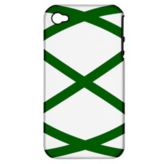 Lissajous Small Green Line Apple Iphone 4/4s Hardshell Case (pc+silicone) by Mariart
