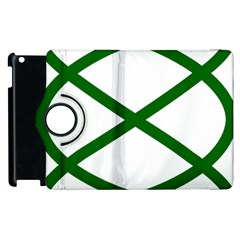 Lissajous Small Green Line Apple Ipad 3/4 Flip 360 Case by Mariart