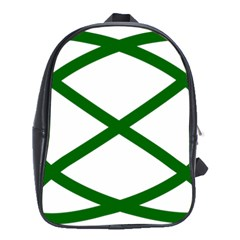 Lissajous Small Green Line School Bag (xl) by Mariart