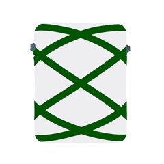 Lissajous Small Green Line Apple Ipad 2/3/4 Protective Soft Cases by Mariart