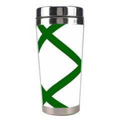 Lissajous Small Green Line Stainless Steel Travel Tumblers by Mariart