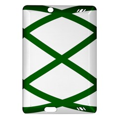 Lissajous Small Green Line Amazon Kindle Fire Hd (2013) Hardshell Case by Mariart