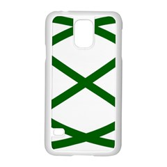 Lissajous Small Green Line Samsung Galaxy S5 Case (white) by Mariart