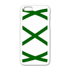 Lissajous Small Green Line Apple Iphone 6/6s White Enamel Case by Mariart