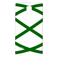 Lissajous Small Green Line Galaxy Note 4 Back Case by Mariart