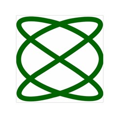 Lissajous Small Green Line Small Satin Scarf (square) by Mariart