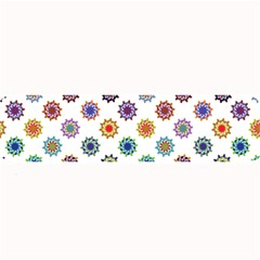 Flowers Pattern Recolor Artwork Sunflower Rainbow Beauty Large Bar Mats by Mariart