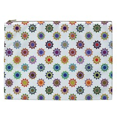 Flowers Pattern Recolor Artwork Sunflower Rainbow Beauty Cosmetic Bag (xxl)  by Mariart