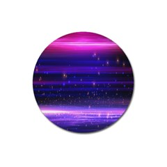 Massive Flare Lines Horizon Glow Particles Animation Background Space Magnet 3  (round) by Mariart