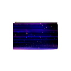 Massive Flare Lines Horizon Glow Particles Animation Background Space Cosmetic Bag (small)  by Mariart