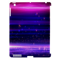Massive Flare Lines Horizon Glow Particles Animation Background Space Apple Ipad 3/4 Hardshell Case (compatible With Smart Cover) by Mariart