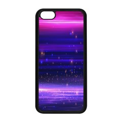 Massive Flare Lines Horizon Glow Particles Animation Background Space Apple Iphone 5c Seamless Case (black) by Mariart
