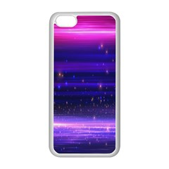 Massive Flare Lines Horizon Glow Particles Animation Background Space Apple Iphone 5c Seamless Case (white) by Mariart