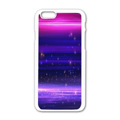 Massive Flare Lines Horizon Glow Particles Animation Background Space Apple Iphone 6/6s White Enamel Case by Mariart