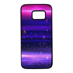 Massive Flare Lines Horizon Glow Particles Animation Background Space Samsung Galaxy S7 Black Seamless Case