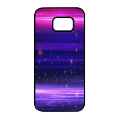 Massive Flare Lines Horizon Glow Particles Animation Background Space Samsung Galaxy S7 Edge Black Seamless Case by Mariart