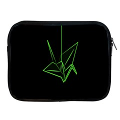 Origami Light Bird Neon Green Black Apple Ipad 2/3/4 Zipper Cases by Mariart