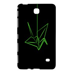 Origami Light Bird Neon Green Black Samsung Galaxy Tab 4 (8 ) Hardshell Case  by Mariart