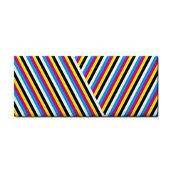 Lines Chevron Yellow Pink Blue Black White Cute Cosmetic Storage Cases by Mariart