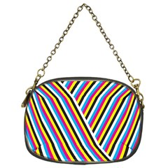 Lines Chevron Yellow Pink Blue Black White Cute Chain Purses (one Side)  by Mariart