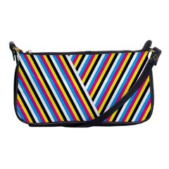 Lines Chevron Yellow Pink Blue Black White Cute Shoulder Clutch Bags by Mariart