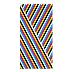 Lines Chevron Yellow Pink Blue Black White Cute Shower Curtain 36  X 72  (stall)  by Mariart