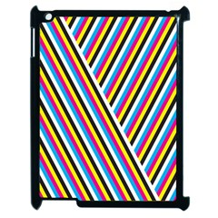 Lines Chevron Yellow Pink Blue Black White Cute Apple Ipad 2 Case (black) by Mariart
